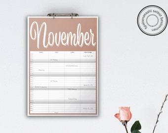 Family Calendar 'SPUMANTE', planar // A3