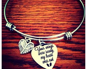 Memorial Bracelet, Your Wings Were ready, My Heart Was Not