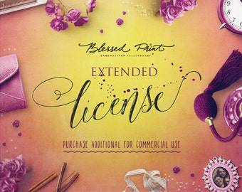 Extended License for commercial usage of a single font from BlessedPrint market