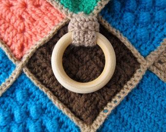 sensory choti {lovey} with natural teething ring