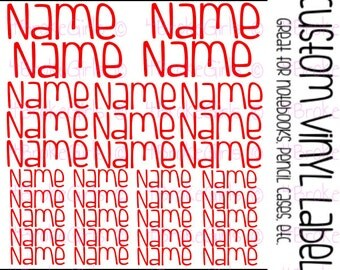 1 Full Sheet of Name Labels  School Labels  Supply Labels  Daycare Labels  Camp Labels  Vinyl Decal  Decal Labels