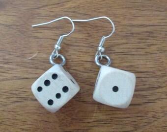 Wooden Dice Earrings