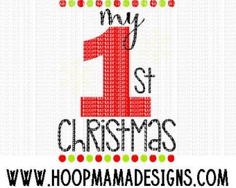 My First Christmas SVG DXF eps and png Files for Cutting Machines Cameo or Cricut Christmas