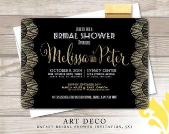 ART DECO . bridal shower invitation