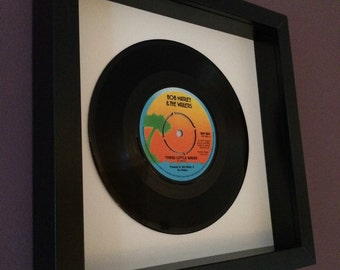 "Bob Marley ""Three Little Birds"" Framed Vinyl Gift"