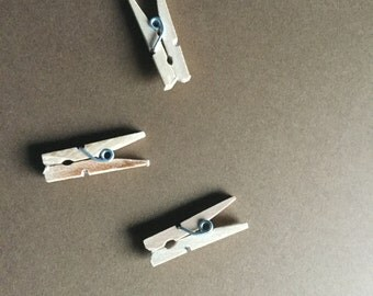 Mini Wood Clothespins
