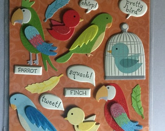 3D Bird Stickers