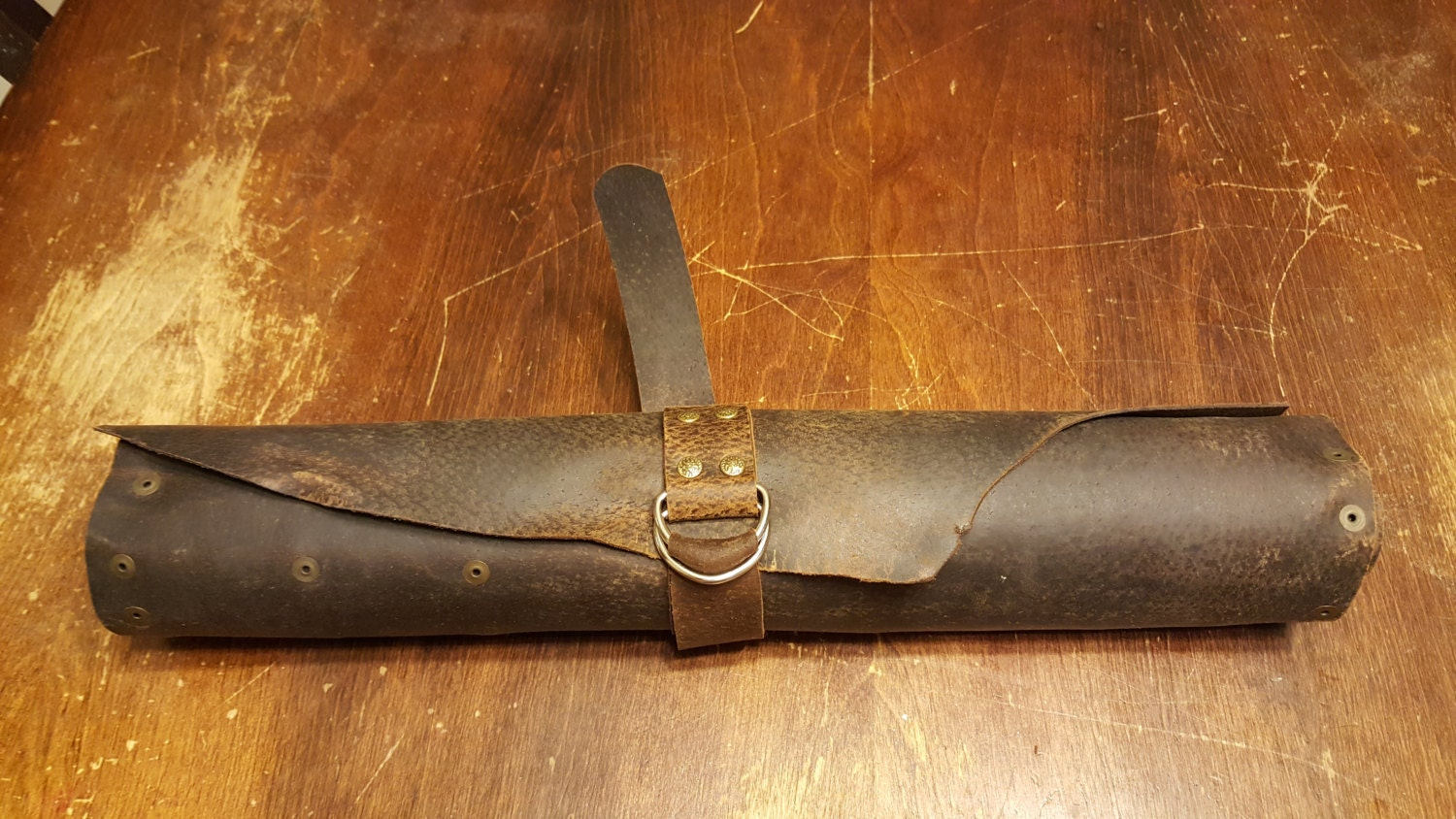 how to make a leather knife roll