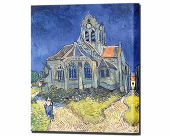Van Gogh Church at Auvers sur Oise Canvas Wall Art Print Vincent Framed Ready to Hang