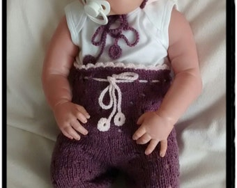 Baby knitting set,baby gift,Smarty Pants,Bonnet,Newborn photo props.