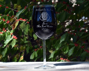Personalized Day of the Dead Bridesmaid, Bride or Maid of Honor Wine Glass