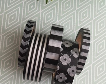 CLEARANCE Black/White Washi Tape