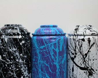 Splash Painted Spray Paint Cans