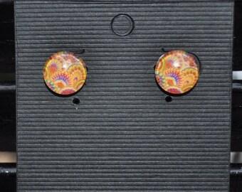Handmade Abstract Stud Earrings
