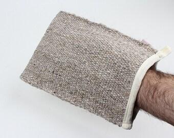 NEW Goat Hair Bath Glove- Authentic Turkish Bath Exfoliating Mitt- Natural body scrubber