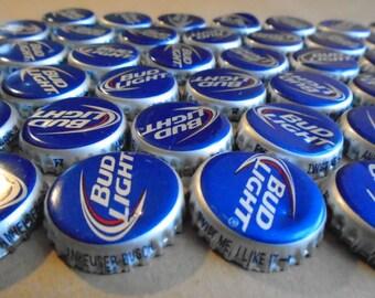 50 Bud Light Beer Bottle Caps