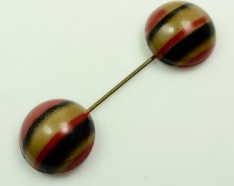 Art Deco Enameled Jabot  Pin