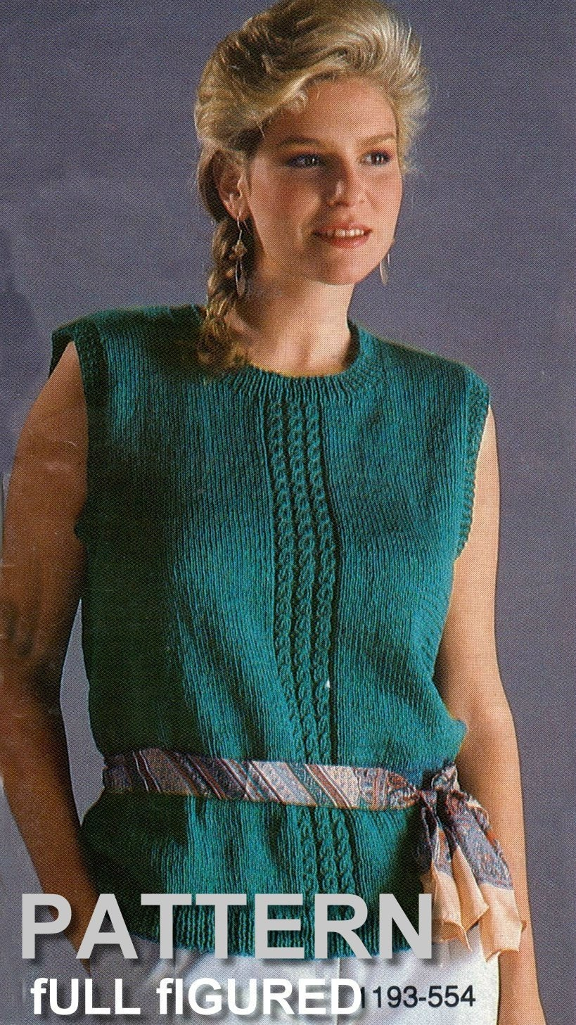 Full figured sweater knitting pattern sweater pattern plus this is a digital file bankloansurffo Gallery