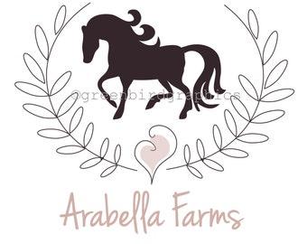 Horse Logo, Equestrian Logo, Premade Logo Design, Customizable Business Logo, Small Business Logo