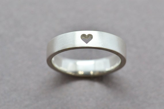 sterling silver ring wedding band simple