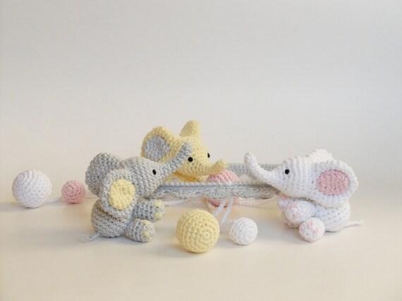 baby mobile geh kelt elefant h keln baby geschenk mobile. Black Bedroom Furniture Sets. Home Design Ideas