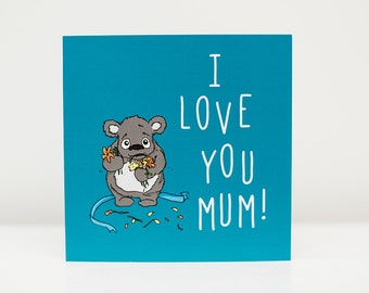 """Mother's Day Card """"I Love You Mum"""""""