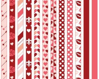 Kisses and Hugs Washi Strip Stickers H0031
