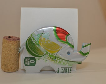 Elephant Magnet made from Diet 7Up can