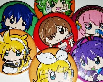 """Vocaloid 1.25"""" Pinback Button Pins"""