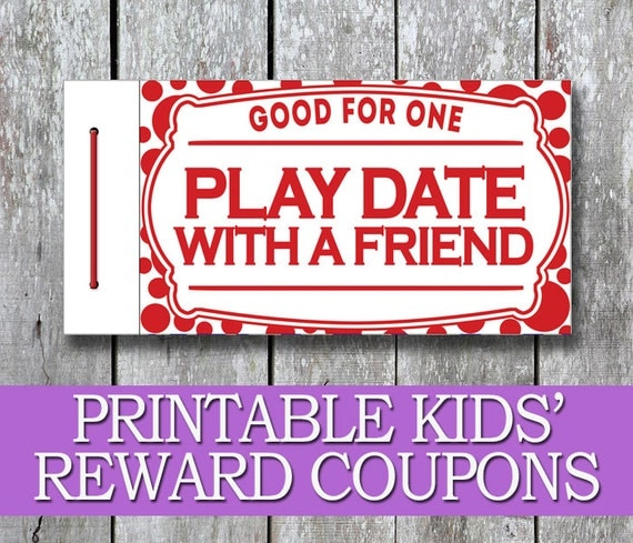 Printable Kids Coupon Book