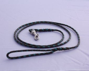 Brown and Teal Show Leash No Bead