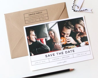 Modern Save the Date | Modern Photo Save the Date, save-the date, Picture Save the Date, Simple Save the Date, Minimalistic, Black and White