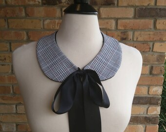 Instant Vintage/Retro Style, Plaid Collar, Detachable Peter Pan Collar, Necklace, Bibs, Statement Necklace, Neck Accessories