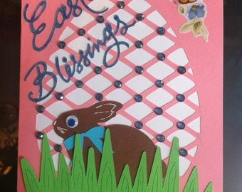 Easter Card Cut Out Egg SVG,PNG,DXF
