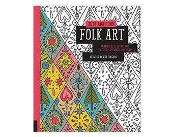 Lisa Congdon Coloring Book Just Add Color Folk Art