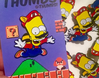 Bart Simpson x Super Mario Pin Badge