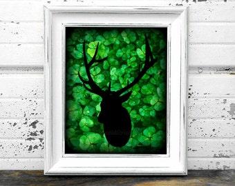 Irish,#Lucky,#Buck,#Deer,#Clover,#Ireland,#Hunter,#Hunt,#ManCave,#Rack,#Hunting,#HomeDecor,#InteriorDesign,#Printables,#Art,#Green,#DIY,#Den