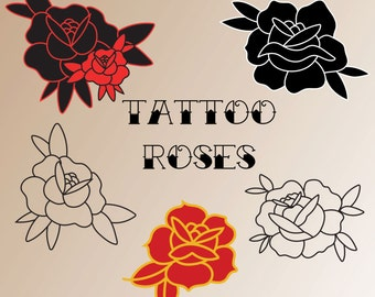Tattoo Rose Icons