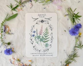 Summer Poem - Card