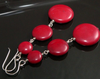 Red Jasper Stones with Sterling Silver Findings.