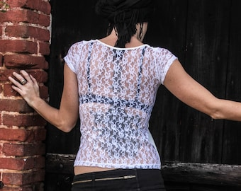 Sexy Tshirt - full lace back side...