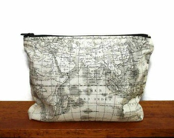Cosmetic Pouch - Cosmetic Bag - Make Up Bag - Travel Bag - Pouch - Zipper Pouch - Make Up Pouch - Small Bag - Small Clutch - Patterned Pouch
