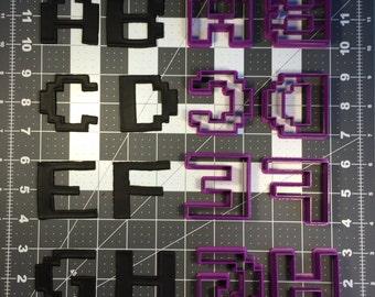 Pixel Font Uppercase Cookie Cutter Set