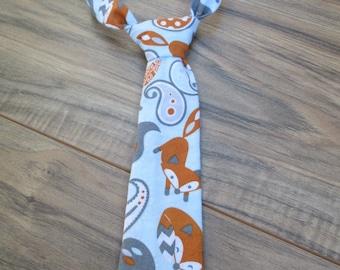 Little Guy Ties, Fox Paisley, Newborn - 2T, Fabric Ties, Velcro Ties, Neckties