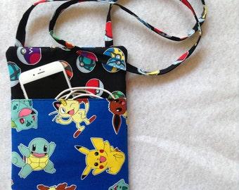 Pokemon Crossbody Purse, sling purse, small purse, travel purse, PG,messenger bag