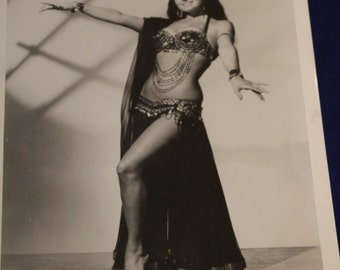 "Original Publicity Photo of Belly Dancer, ""Wanda"", from the Broadway Hit ""Gideon"", 1950s"