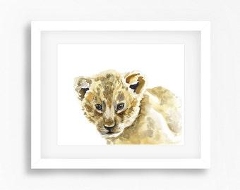 Baby Lion Cub Print