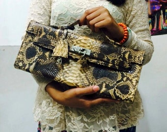 Python Leather Clutch FREE SHIPPING