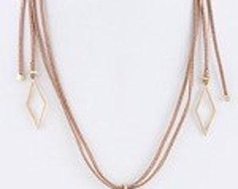 GO WEST    LEATHER wrap necklace