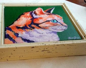 Orange Cat - Framed
